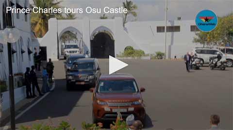 Ghana Web Prince Charles visit to Osu Castle