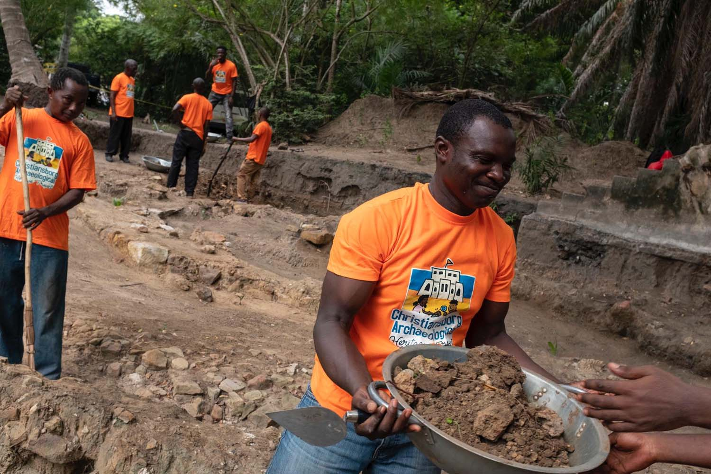 Digging at Osu Castle Accra, Ghana 2020